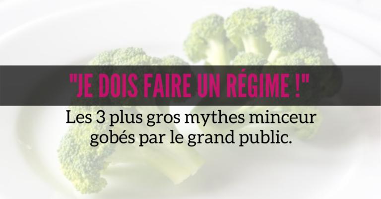 Read more about the article Le régime, cette fausse bonne idée